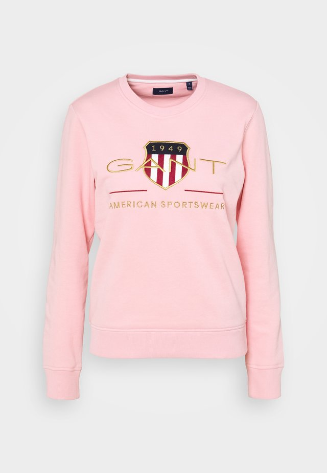 ARCHIVE SHIELD NECK - Sweatshirt - preppy pink