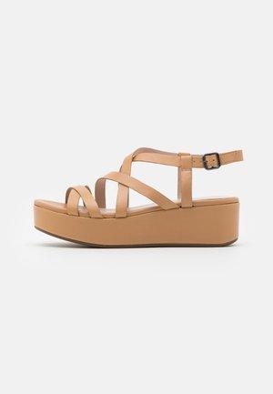 ELEVATE - Platform sandals - latte celeste