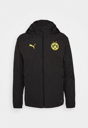 BVB BORUSSIA DORTMUND RAIN JACKET - Club wear - asphalt/cyber yellow