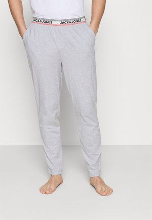 JACJONES LOUNGE PANTS - Pyjama bottoms - light grey melange
