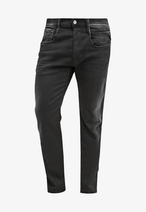 HYPERFLEX ANBASS - Straight leg jeans - black denim