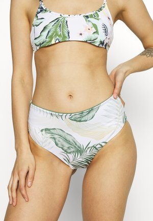 COASTAL PALMS ROLLUP GOOD - Bikini bottoms - white