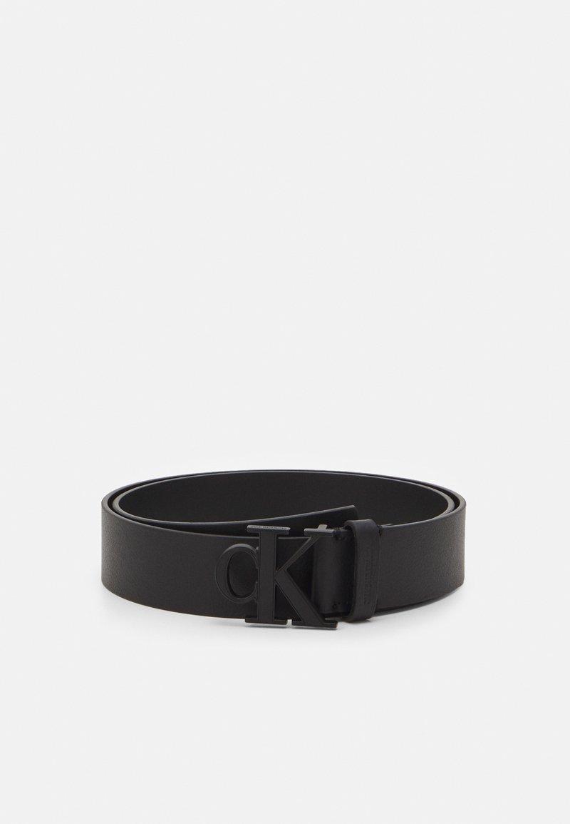 Calvin Klein Jeans - MONO PLAQUE BELT - Belt - black