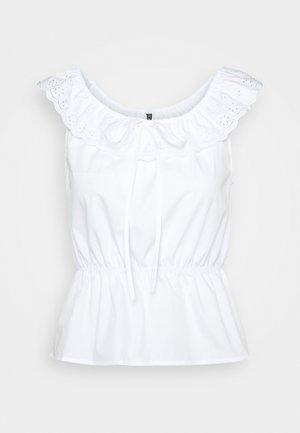 PCTUNIMA - Print T-shirt - bright white