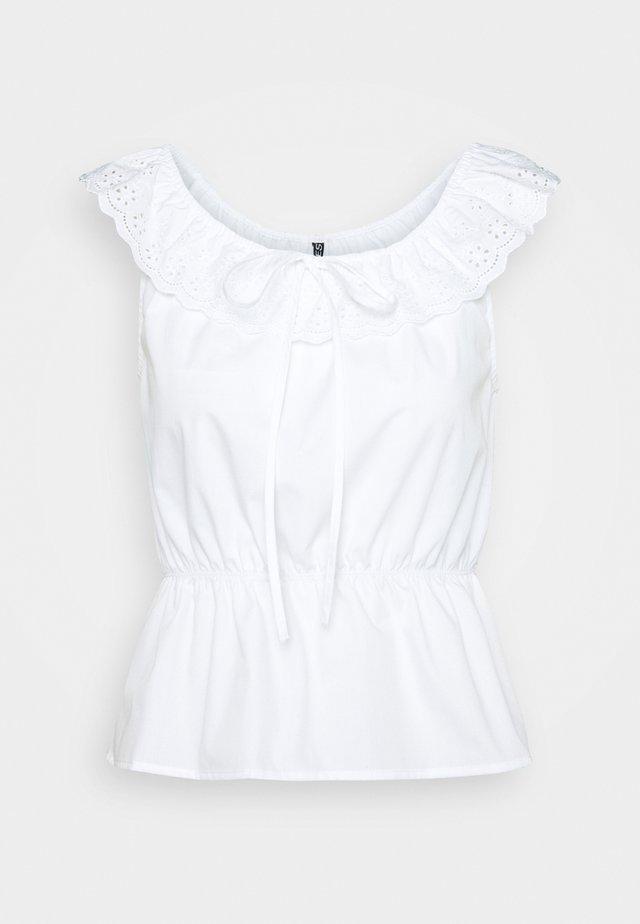 PCTUNIMA - T-shirt z nadrukiem - bright white