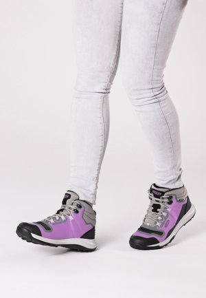 TEMPO FLEX MID WP - HIKING SHOES - Scarpa da hiking - african violet/sharp green