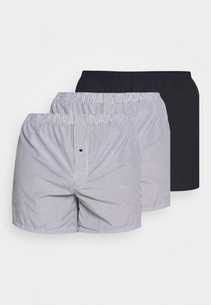3 PACK - Boxer shorts - dark blue/white