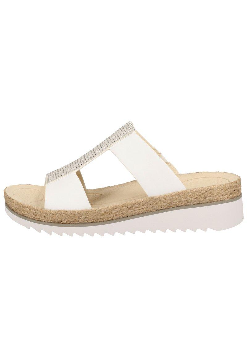 Gabor - PANTOLETTEN - Wedge sandals - weiss/ice 20