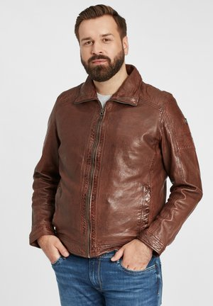 GBCAIRO CF LAORV - Leather jacket - kast:chestnut