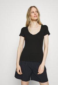 Anna Field - T-shirts - black - 0