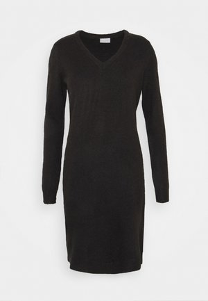 VIMILLA DRESS - Strikket kjole - black