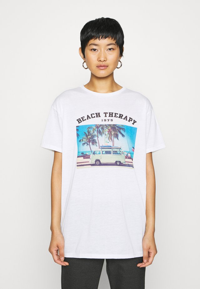 BEYAZ - T-shirts med print - white