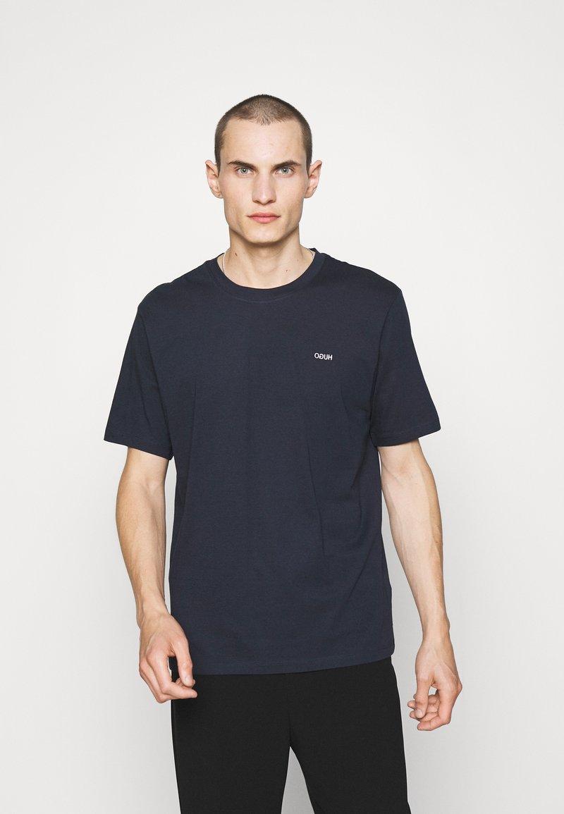 HUGO - DERO - Jednoduché triko - dark blue