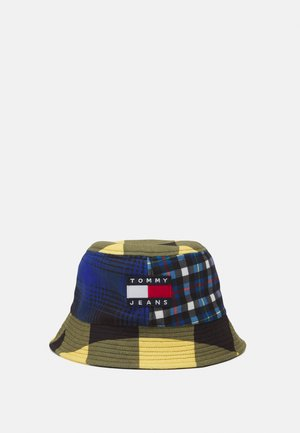 HERITAGE BUCKET HAT CHECK - Klobouk - blue