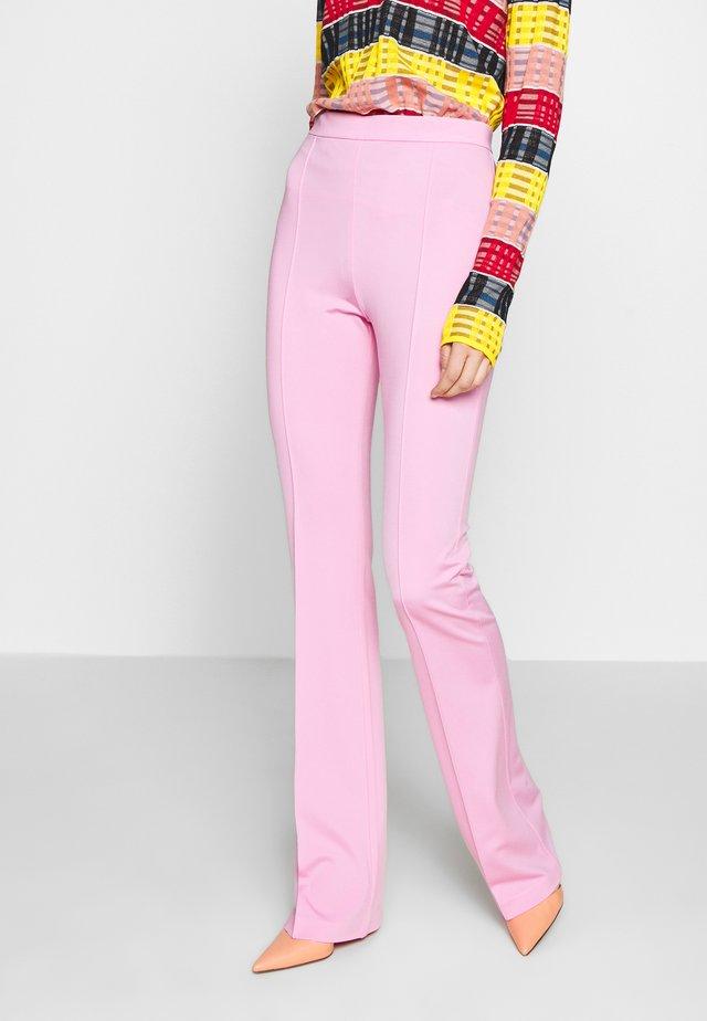 MANDARINO PANTALONE PUNTO STOF - Pantaloni - fiore di rosa