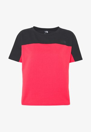 WOMEN'S NORTH DOME - Print T-shirt - cayenne red/black