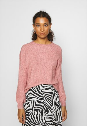 ONLSANDY  SOLID  - Jersey de punto - dusty rose melange