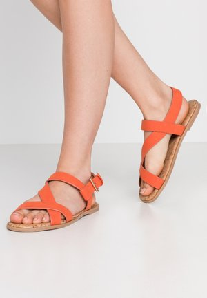 WIDE FIT FINO COMFORT ASYMETRIC - Sandals - orange