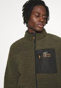 Brave Soul - LITHIUM - Summer jacket - khaki/jet black/orange - 3