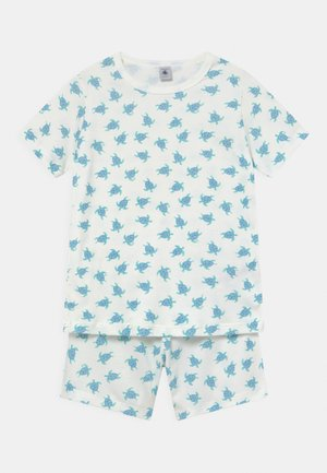 TURTLE PRINT UNISEX - Pyjamas - off-white/blue