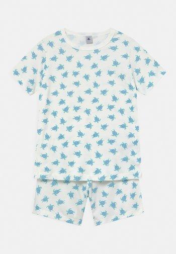 TURTLE PRINT UNISEX - Pyjama set - off-white/blue
