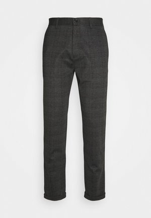 CHECKED PANTS - Pantaloni - grey