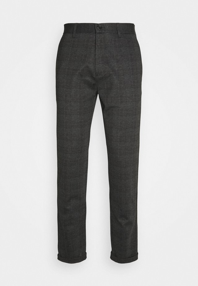 CHECKED PANTS - Trousers - grey