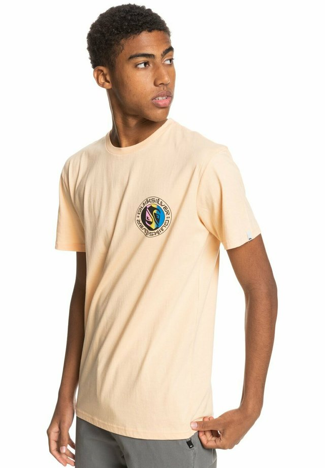 MELLOW PHONIC  - Print T-shirt - apricot