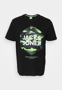 Jack & Jones - JJPRIME TEE CREW NECK  - Print T-shirt - black - 0