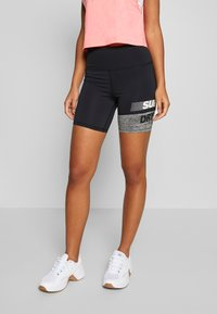 Superdry - TRAINING GRAPHIC SHORTS - Leggings - grey marl - 2