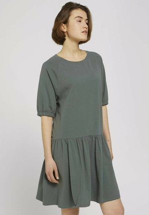 Jersey dress - dusty pine green