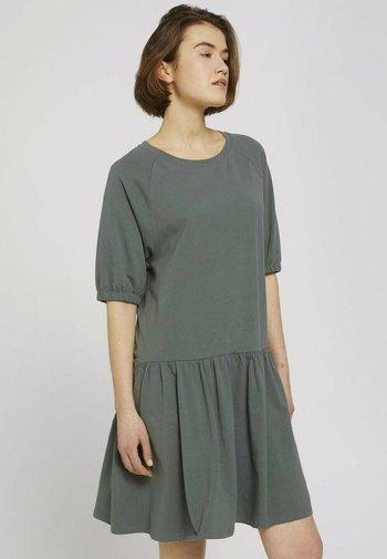 Jersey dress - dusty pine green