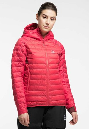 Winter jacket - hibiscus red