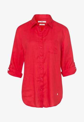 STYLE VIOLA - Button-down blouse - red