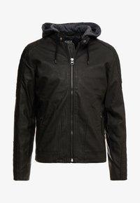 INDICODE JEANS - CHENIES - Faux leather jacket - black - 5