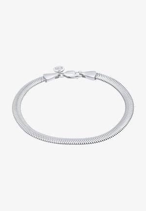 BASIC ELEGANT FLAT - Armband - silber