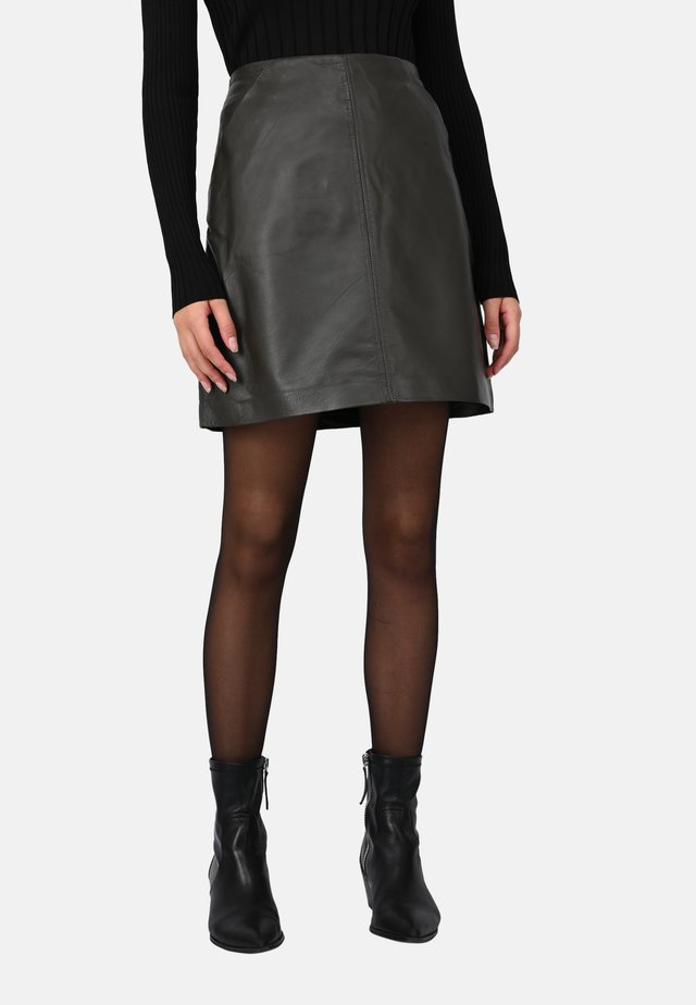 JOHANNA - A-line skirt - khaki