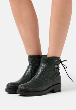 Lace-up ankle boots - verde