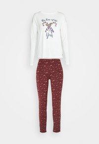 TOM TAILOR - XMAS ONECK  SET - Pyjamas - red dark allover - 4