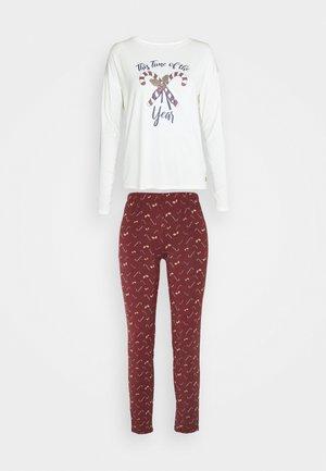 XMAS ONECK  SET - Pyjama - red dark allover