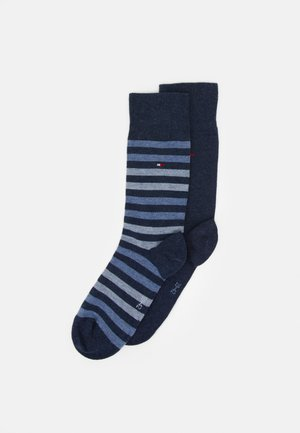 MEN DUO STRIPE SOCK 2 PACK - Chaussettes - blue denim