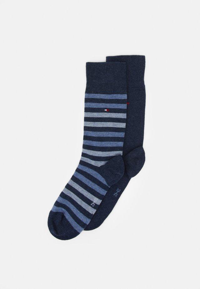 MEN DUO STRIPE SOCK 2 PACK - Sokker - blue denim