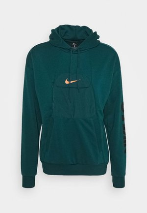 HOODIE - Felpa con cappuccio - atomic teal/black/electro orange