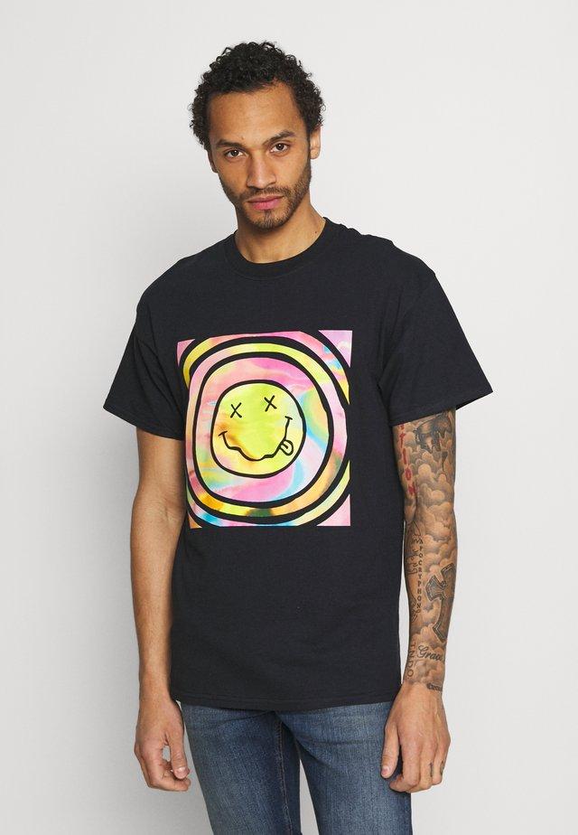 NIRVANA PSYCHEDELIC TEE - T-shirt imprimé - black