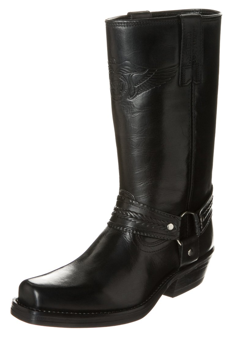 Stort Udsalg Fabrikspris Herresko Kentucky's Western Cowboy/ bikerstøvler black BaNIvA ukFkht