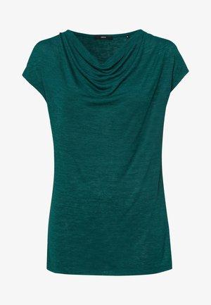 MIT WASSERFALLAUSCHNITT - Basic T-shirt - green