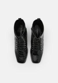 Glamorous Wide Fit - Šněrovací kotníkové boty - black - 5