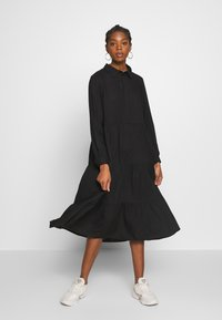 Monki - PEARL DRESS - Blusenkleid - black dark unique - 0