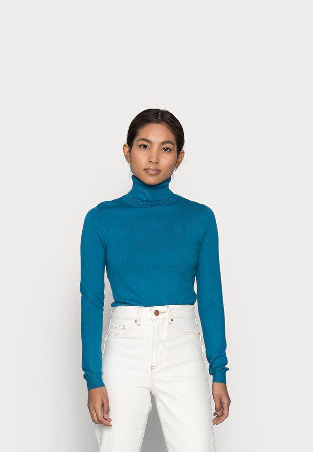 VMHAPPINESS ROLLNECK   - Sweter - mykonos blue