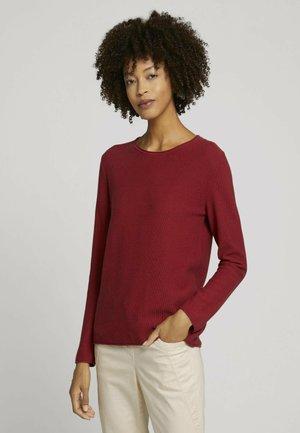 Jumper - dark maroon red